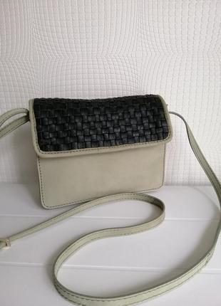 Кожаная сумка кроссбоди maanii by adax,из натуральной кожи, нубука