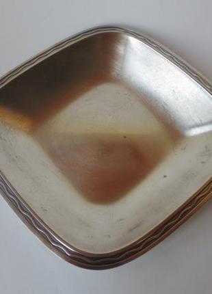 Винтажное посеребренное блюдо для фруктов хлеба серебрение