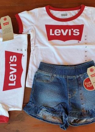 Футболка и шорты levi's для девочки