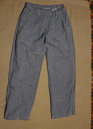 Свободные чисто льняные серые брюки maas  naturware германия 14 р.