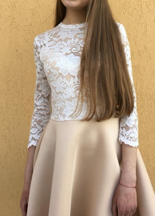 Ніжна бежева сукня 😍