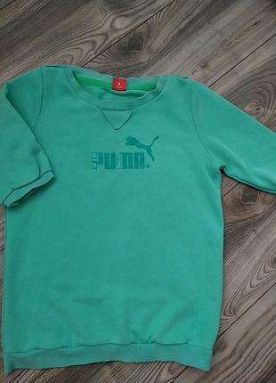 Мятная фирменная футболка puma