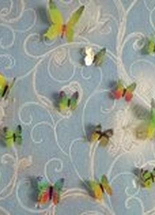 Наклейки декор для стен бабочки 3 d