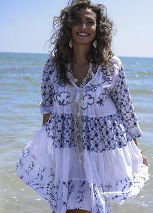 Платье туника пляжная