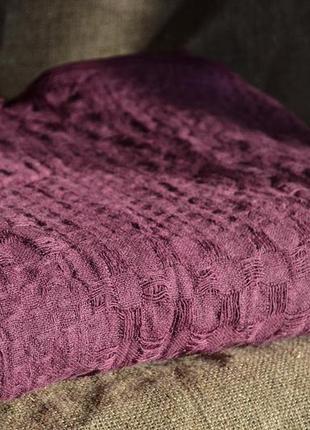 Подарок! самый подходящий вариант для лета!льняной плед чарли фиолетовый