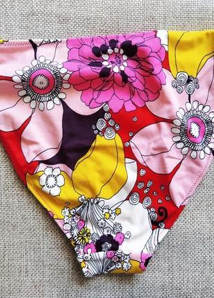 Плавки бикини купальник низ стринги цветочный принт бренд h&m 12 / 42