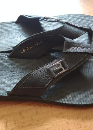 Шлепки мужские кожаные ручная работа тибет 42-43р