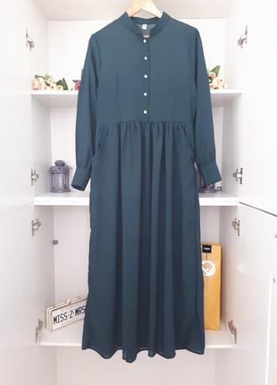 Воздушное длинное платье длинный рукав