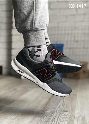 Мужские кроссовки new balance 247 (черно/серые)