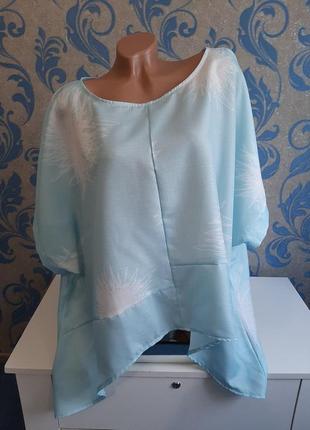 Красивенная блуза , удлиненная по бокам пог 85 см