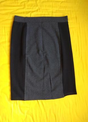 M&s юбка серо черная миди