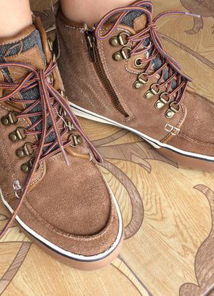 Ботинки кеды из натуральной замши