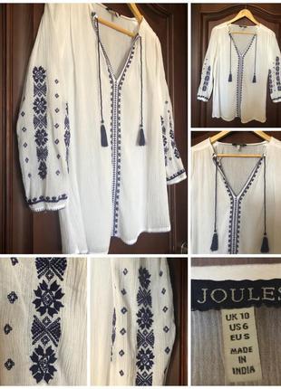 Вышитая рубашка блуза вишиванка joules m/38/46