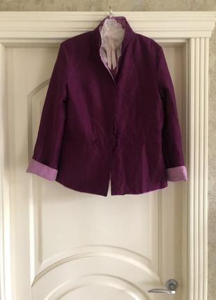 Двусторонний шелковый пиджак италия