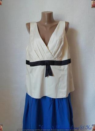 Фирменная monsoon нарядная просторная блуза в нежном цвете пряженого молока, размер 5хл