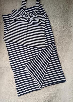 Комплект юбка и топ в морьском стиле