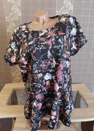 Роскошная блуза с дайвинга uk 26 р. пог 65 см