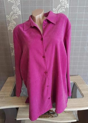 Роскошная рубашка под мокрый замш uk 22 р.