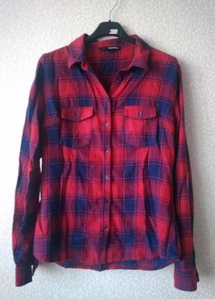 Рубашка блузка в клеточку tally weijl размер 36