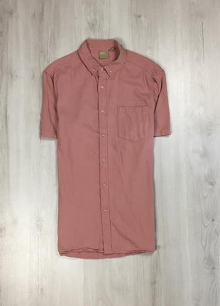 Z6 шведка asos приталенная рубашка розовая