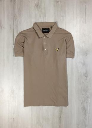 Z8 тенниска lyle&scott футболка коричневая мужская лайл скот поло