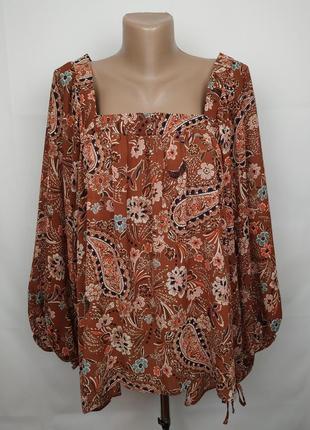 Блуза новая красивая в принт пейсли primark uk 20/48/3xl