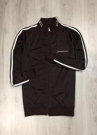 F9 олимпийка lambretta ветровка спортивная кофта винтажная коричневая с лампасами