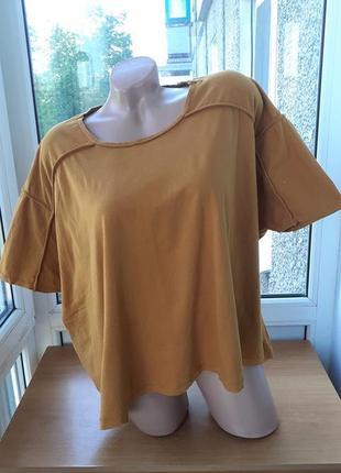 Свободная укороченная футболка/ топ