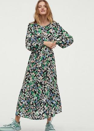 Шикарное вискозное макси платье 👗 h&m ♥ s-m-l