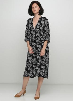 Шикарное вискозное миди платье 👗 h&m ♥  s-m-l