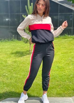 Трендовый спортивный костюм худи и джогеры