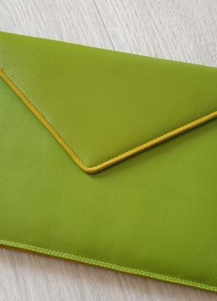 Jekyll & hide  кожаный клатч конверт.
