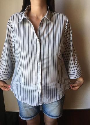 Красивая рубашка большого размера с оригинальным рукавом george