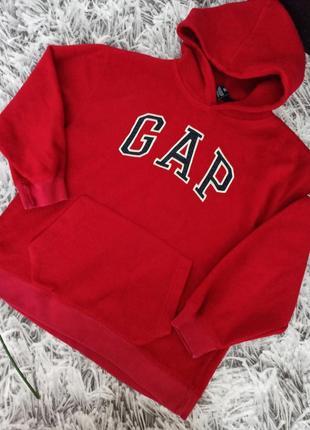 Толстовка gap красная, кенгуру gap с капюшоном, толстовка gap унисекс