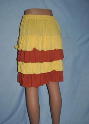 Легкая,яркая юбка с воланами