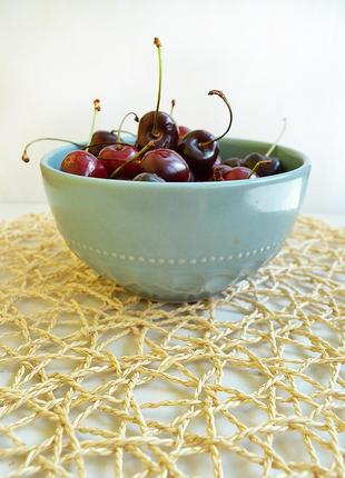 Плетеные подставки под посуду от ikea