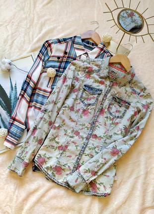 Винтажная джинсовая рубашка only