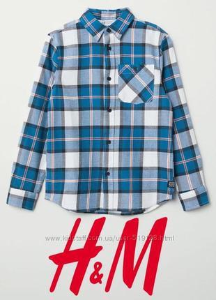 Класична фланелева сорочка для хлопців 10-12 років від h&m