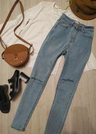Джинсы скини lost ink из сайта asos брюки голубые штаны джинси блакинті