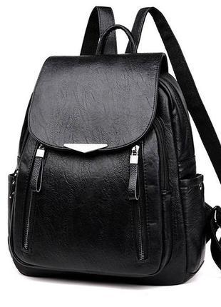 Женский рюкзак эко-кожа black 1129