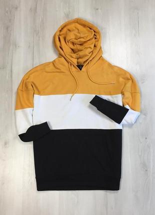 F8 худи м толстовка кофта с капюшоном желтая черная белая