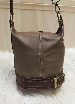 Стильная кожаная сумка рюкзак renata corci