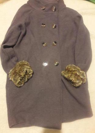 Пальто шерстяное от zara