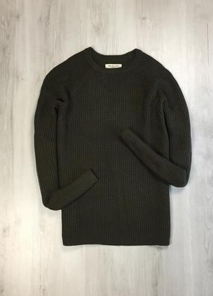 F8 свитер вязаный primark оливковый  кофта теплая примарк