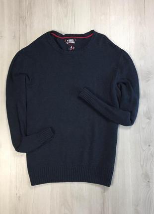 F8 свитер kangol темно синий теплый