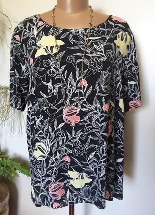 Нежная блуза в желтые и розовые цветы