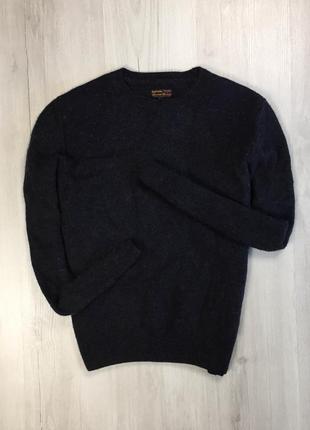 F8 свитер шерстяной barbour черный синий свитер кофта теплая