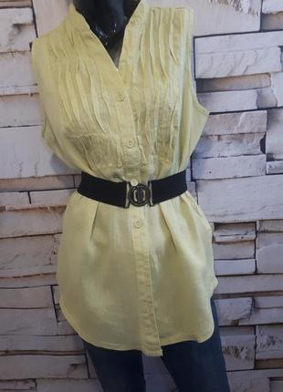Блуза блузка/ лимонный цвет/ 100% лен