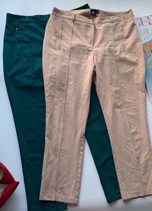 👖утончённые бежевые брюки asos/летние лёгкие нюдовые штаны/классические телесные штаны👖