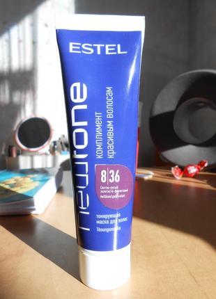Тонирующая маска для волос estel newtone 8.36 светло-русый золотисто-фиолетовый
